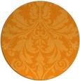 rug #194465 | round light-orange traditional rug