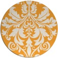 rug #194469 | round light-orange traditional rug