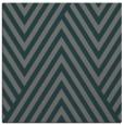 rug #194953 | square blue-green stripes rug