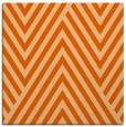 rug #195085 | square red-orange stripes rug