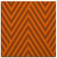 rug #195089 | square red-orange stripes rug