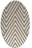 rug #195177 | oval white stripes rug