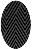 rug #195185 | oval black stripes rug