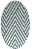 rug #195201 | oval white stripes rug