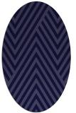 rug #195261 | oval blue-violet stripes rug
