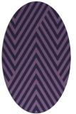 rug #195273 | oval purple stripes rug