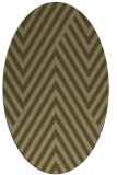 rug #195297 | oval brown graphic rug