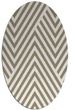 rug #195317 | oval white graphic rug