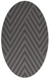 rug #195325 | oval brown stripes rug