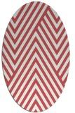 rug #195400 | oval graphic rug