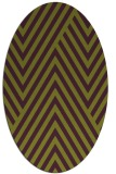 rug #195405   oval purple graphic rug
