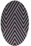 rug #195413 | oval purple stripes rug