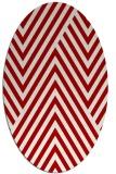 rug #195417 | oval red stripes rug