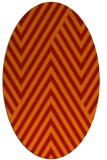 rug #195421 | oval orange stripes rug