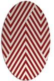 rug #195425 | oval red popular rug