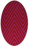 rug #195429 | oval red stripes rug