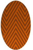 rug #195441 | oval red-orange stripes rug