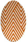 rug #195445 | oval red-orange stripes rug