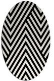 rug #195449   oval white stripes rug