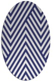 rug #195457   oval blue graphic rug