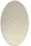rug #195469   oval yellow graphic rug