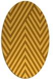 rug #195481 | oval yellow stripes rug