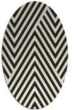 rug #195485 | oval black stripes rug