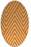 rug #195493 | oval orange graphic rug