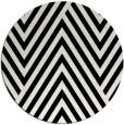rug #195885   round white stripes rug