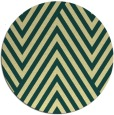 rug #196085 | round blue-green stripes rug