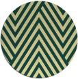 rug #196085 | round yellow rug