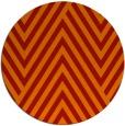 rug #196125 | round orange graphic rug