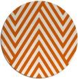 rug #196149   round red-orange stripes rug