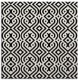 rug #202509 | square black retro rug