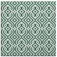 rug #202637   square green retro rug