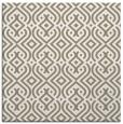 rug #202645 | square mid-brown rug