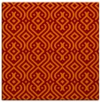 rug #202693 | square red-orange traditional rug