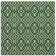 rug #202709 | square yellow retro rug
