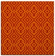 rug #202749 | square red retro rug