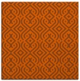 rug #202769 | square red-orange traditional rug