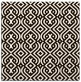 rug #202801 | square brown retro rug