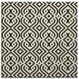 rug #202813 | square black retro rug