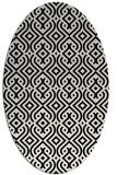 rug #202861 | oval white traditional rug