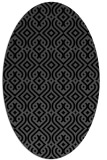 rug #202865 | oval black traditional rug