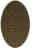 rug #202877 | oval brown retro rug
