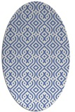 rug #202897 | oval blue retro rug