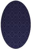rug #202941 | oval blue-violet retro rug