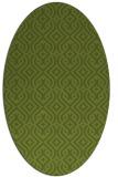 rug #202981 | oval green traditional rug