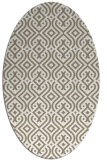 rug #202997 | oval mid-brown rug