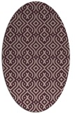 rug #203013 | oval pink retro rug